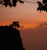 Sunset on Huang Shan (Yellow Mountain)|234