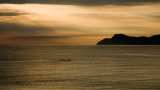 Mallorca #4 - swimmer at sunrise|662