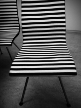 A black and white chair|671